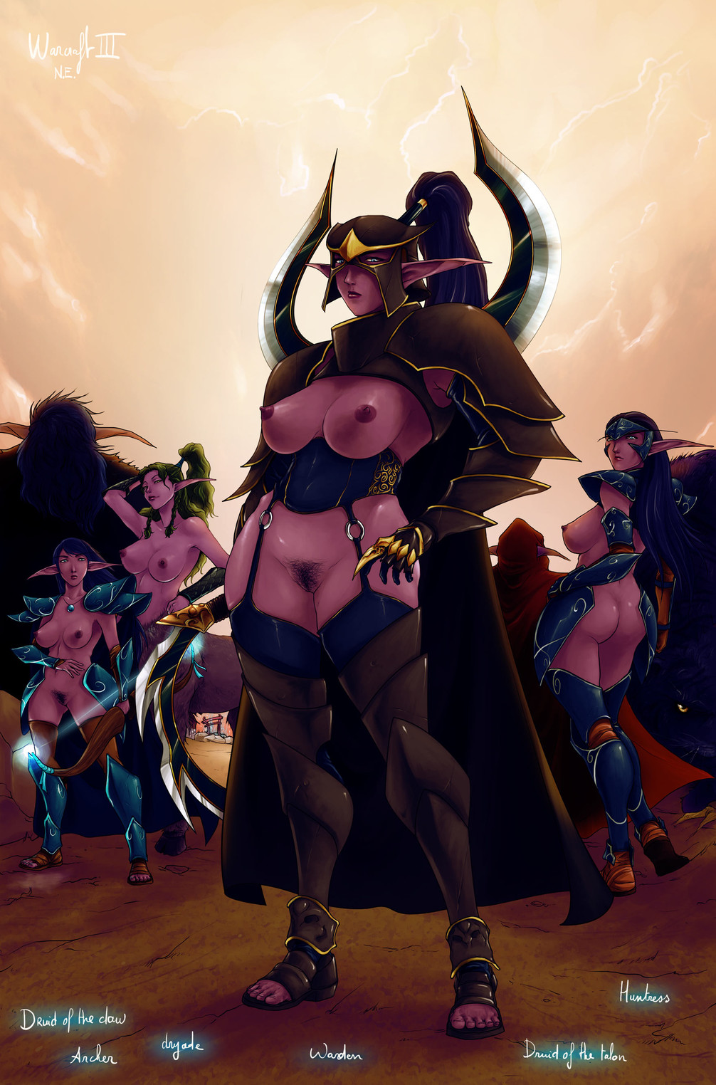 night warcraft elf world of Five nights at freddy's in anime