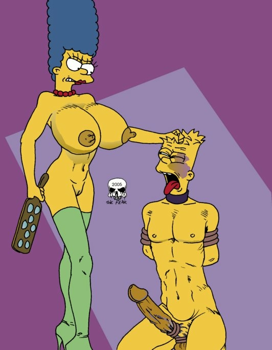 simpson naked with bart marge Krillin and android 18 hentai